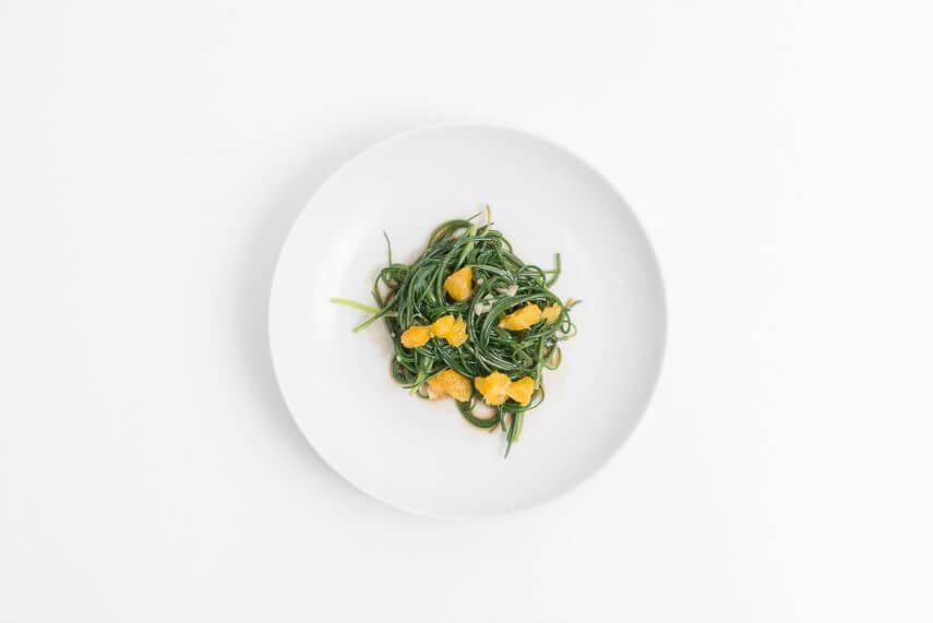 Mönchsbart Salat mit Orangen