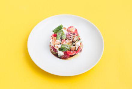 Tomatensalat mit Ricotta
