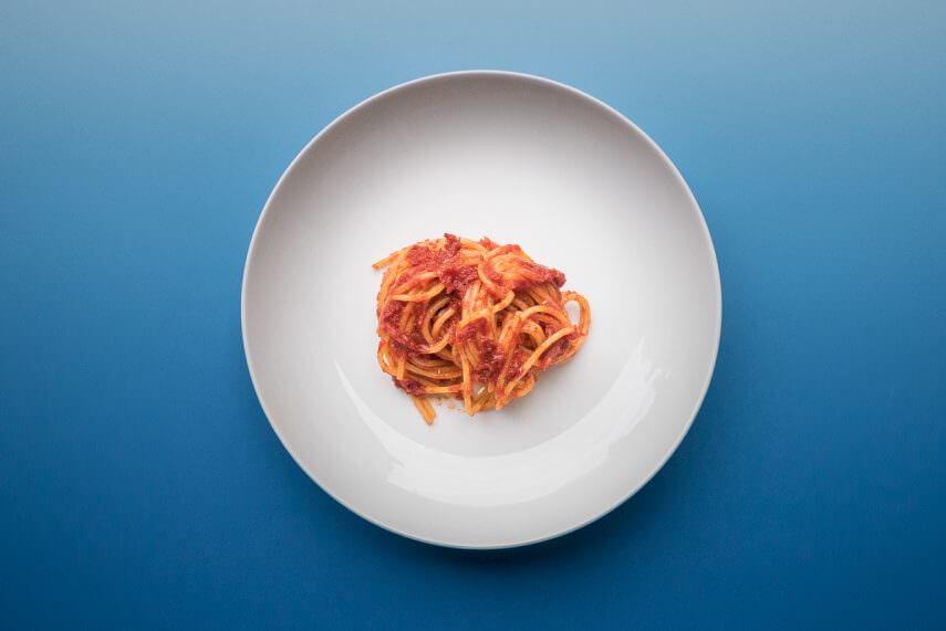 Rand der Tomatensoße