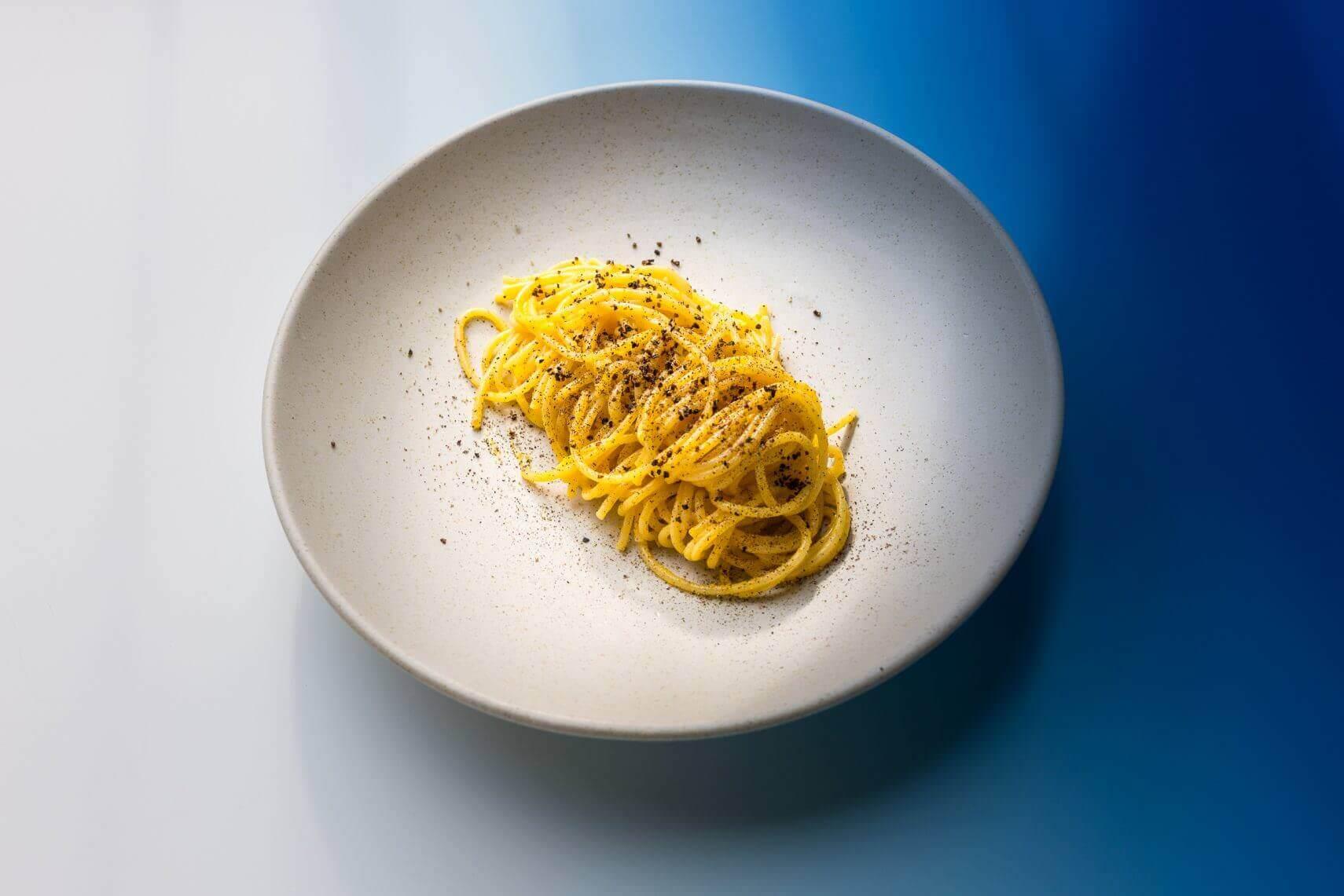 Spaghetti Orangen Pfeffer