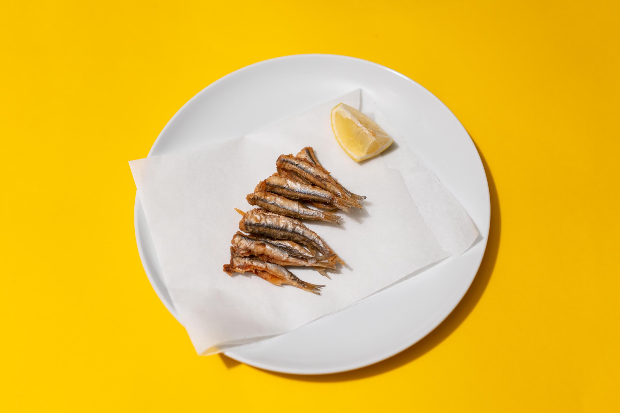 Sardellen, frittiert